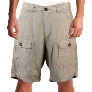 Tasso Elba | Linen Blend Cargo Shorts